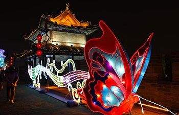 Xian City Wall Spring Festival Lantern Exhibition Tour