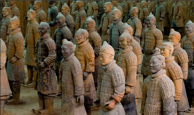 Set Of 9 Terracotta Warriors /& Horse Clay China Xi-An Replica Awesome Home Decor
