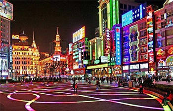 Shanghai Night City Walk Tour at Night Market & Snack Street