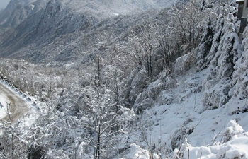 The Qinling mountain in snow